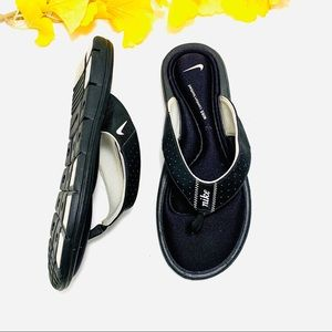 Nike Comfort Black Thong Flip Flop Women's Size 9